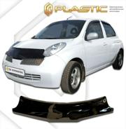 2010010104245 CA PLASTIC Дефлектор капота Nissan Micra  2004-2006 K12 Classic черный