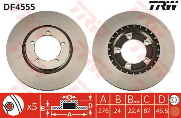 DF4555 TRW Тормозной диск