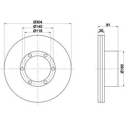 Тормозной диск TEXTAR 93087400
