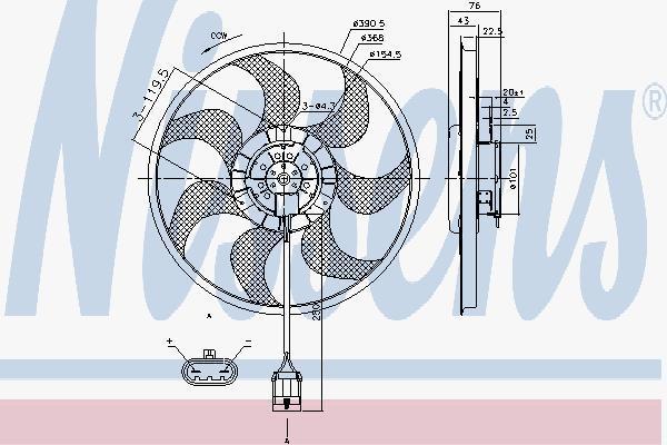 85784 NISSENS Вентилятор, охлаждение двигателя