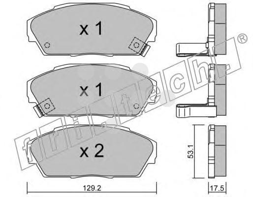 1740 FRI.TECH. Колодки тормозные дисковые передние