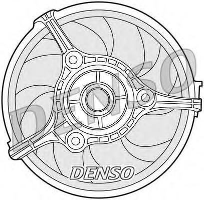 Вентилятор, охлаждение двигателя DENSO DER02002