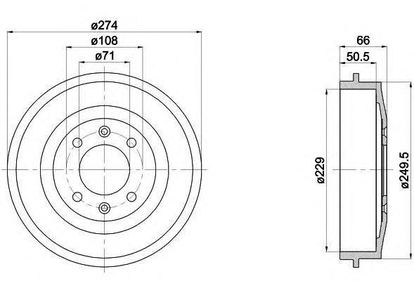 94010300 TEXTAR Тормозной барабан