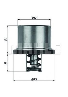 THD179 MAHLE/KNECHT Термостат, охлаждающая жидкость