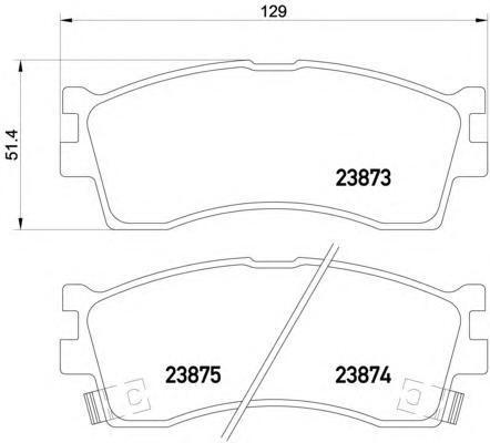 2387301 TEXTAR Комплект тормозных колодок, дисковый тормоз