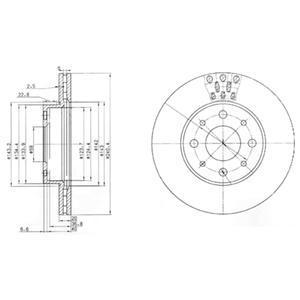 BG3425 DELPHI Тормозной диск
