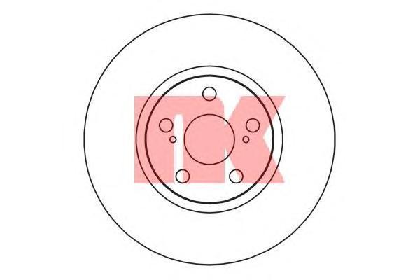 2045132 NK Диск тормозной вентилируемый