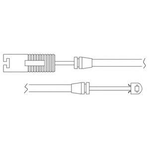 LZ0118 DELPHI Контрольный контакт, контроль слоя тормозных колодок
