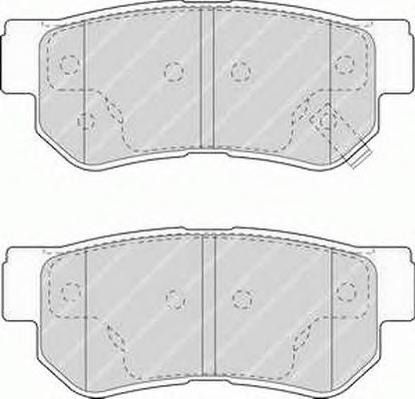 FSL1606 FERODO Комплект тормозных колодок, дисковый тормоз