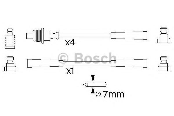 0986356820 BOSCH Комплект проводов зажигания