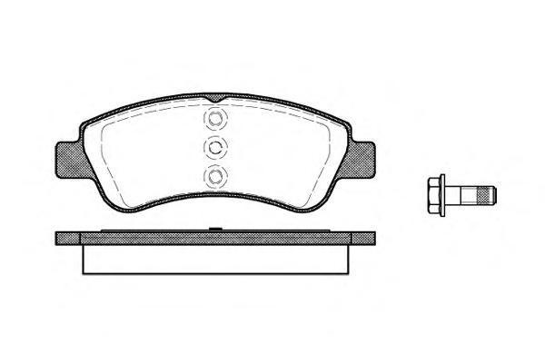 Комплект тормозных колодок, дисковый тормоз ROAD HOUSE 284020