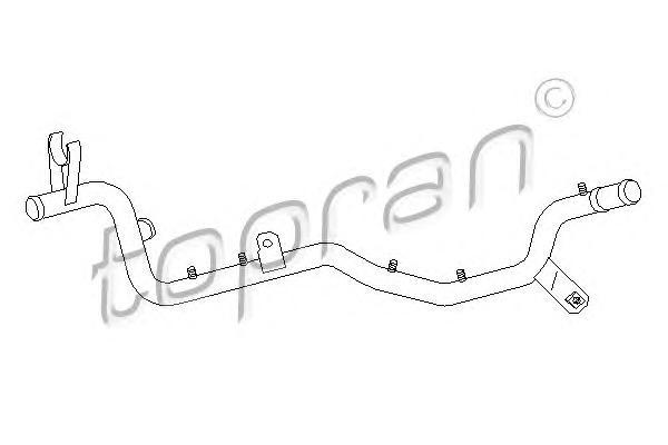 108901 TOPRAN Трубка охлаждающей жидкости