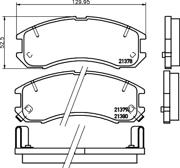 8DB355026981 HELLA Комплект тормозных колодок, дисковый тормоз