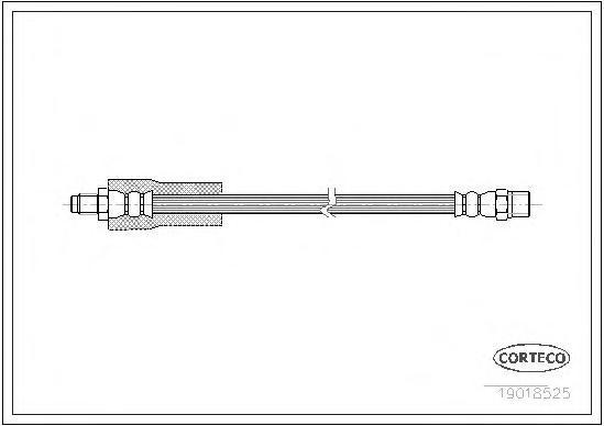 19018525 CORTECO Тормозной шланг