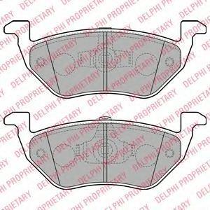 Комплект тормозных колодок, дисковый тормоз DELPHI LP2158