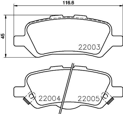 2200301 TEXTAR Комплект тормозных колодок, дисковый тормоз