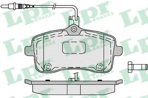 05P1196 LPR/AP Комплект тормозных колодок, дисковый тормоз