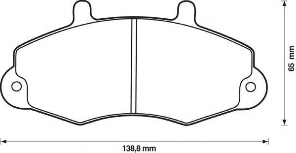 Комплект тормозных колодок, дисковый тормоз BENDIX 571745B