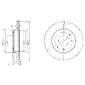 BG2657 DELPHI Тормозной диск