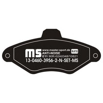 13046039562NSETMS MASTER-SPORT Комплект тормозных колодок