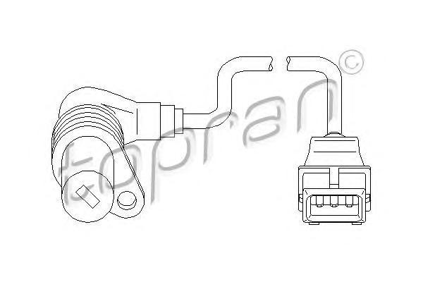 500986 TOPRAN Датчик частоты вращения, управление двигателем