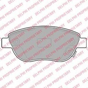 Комплект тормозных колодок, дисковый тормоз DELPHI LP1990