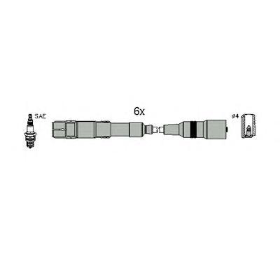 134796 HUCO Комплект проводов зажигания