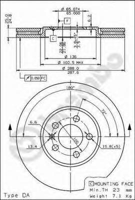 09674710 BREMBO Тормозной диск