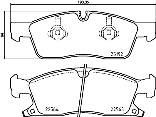 2519207 TEXTAR Комплект тормозных колодок, дисковый тормоз