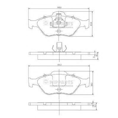 J3603065 NIPPARTS Комплект тормозных колодок, дисковый тормоз