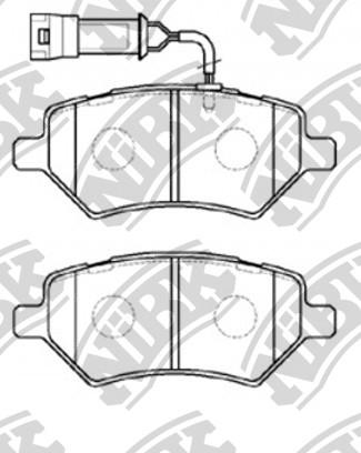 Комплект тормозных колодок NIBK PN0838W