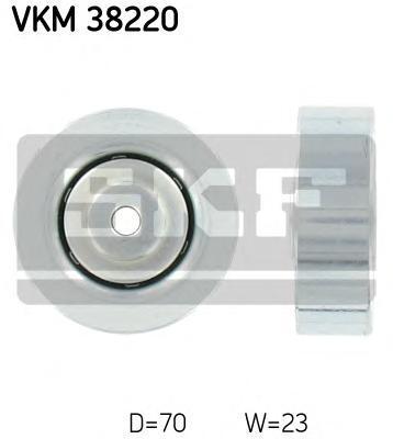 VKM38220 SKF Натяжной ролик, поликлиновой  ремень
