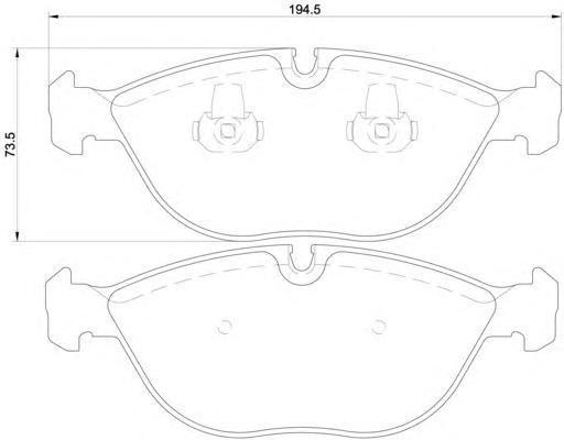 8DB355008261 BEHR-HELLA Комплект тормозных колодок, дисковый тормоз