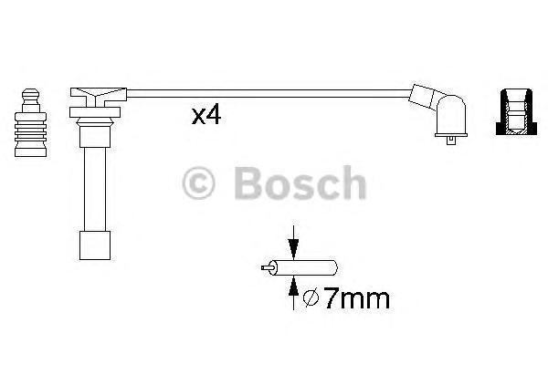 0986356793 BOSCH Комплект проводов зажигания