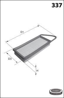 ELP9026 MECAFILTER Воздушный фильтр
