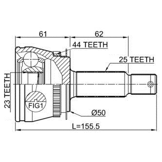ШРУС наружный HDE 104020