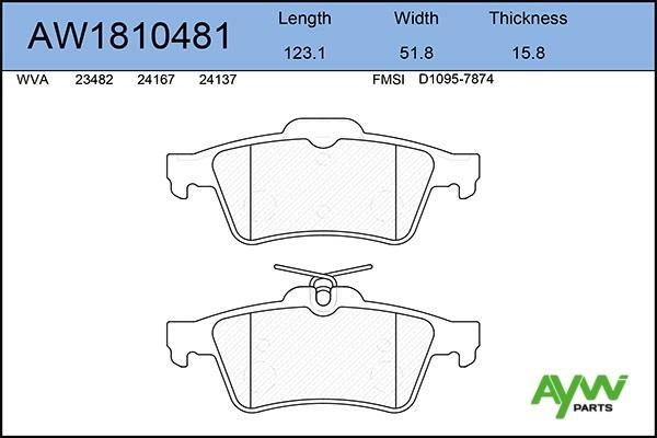 AW1810481 AYWIPARTS Колодки тормозные передние