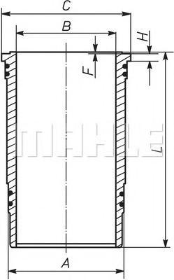 227WN43 MAHLE/KNECHT Гильза цилиндра