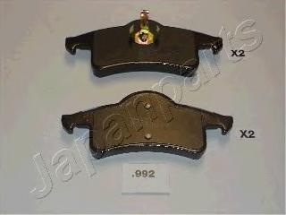 PP992AF JAPANPARTS Комплект тормозных колодок, дисковый тормоз