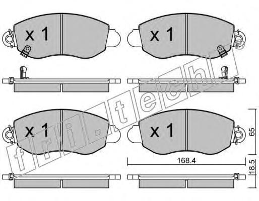 Комплект тормозных колодок, дисковый тормоз FRI.TECH. 3290