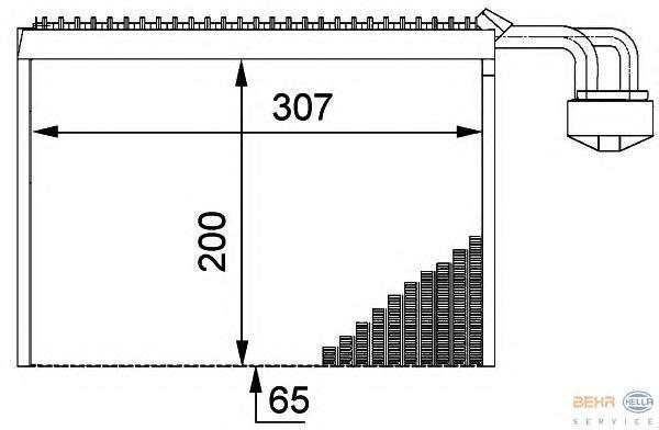 8FV351211711 BEHR-HELLA Испаритель, кондиционер