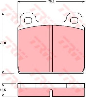 GDB407 TRW/LUCAS Комплект тормозных колодок, дисковый тормоз