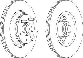 Тормозной диск FERODO DDF1791