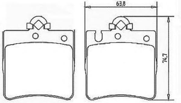 Комплект тормозных колодок, дисковый тормоз BENDIX 571988B