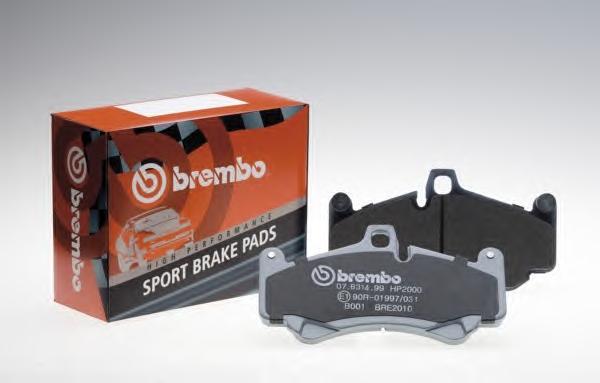 Комплект экономичных тормозных колодок BREMBO 07B31426