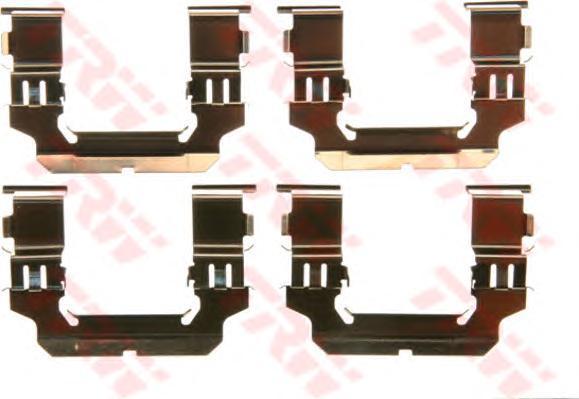 PFK580 TRW Комплектующие, колодки дискового тормоза