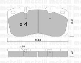 2202680 METELLI Комплект тормозных колодок, дисковый тормоз