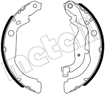 530535 METELLI Комплект тормозных колодок