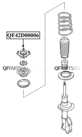 QF42D00006 QUATTRO FRENI Опора переднего амортизатора