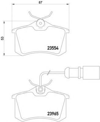 Комплект тормозных колодок, дисковый тормоз TEXTAR 2355403